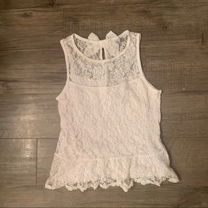 Abercrombie Lace Blouse with Bow